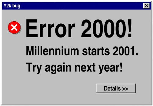 a report on the millennium bug a computer problem related to dates The millennium bug { reasons not to panic here i report the results of an examination of the so by the time the millennium bug problem started to obtrude on.